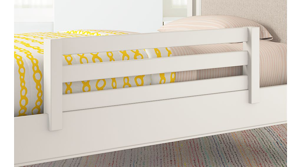 Kids White Bed Guard Rail Reviews Crate And Barrel