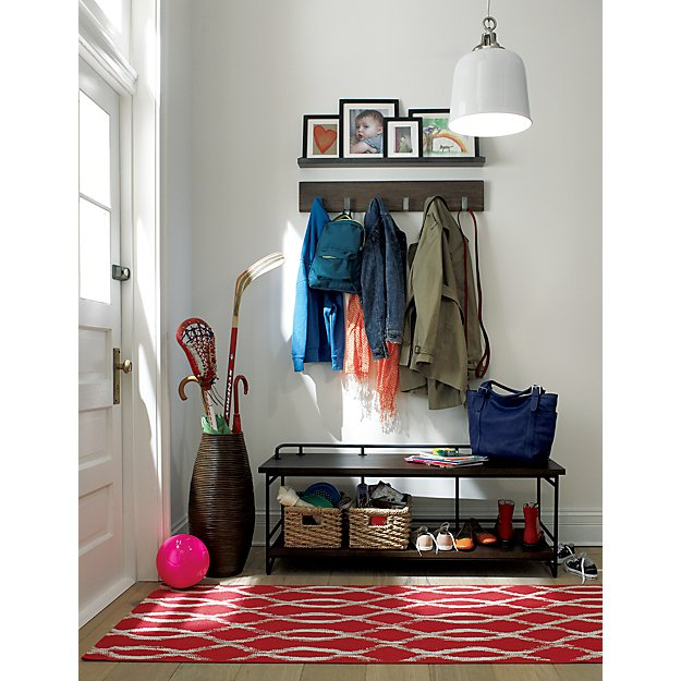Leigh Wall Mounted Coat Rack Crate And Barrel