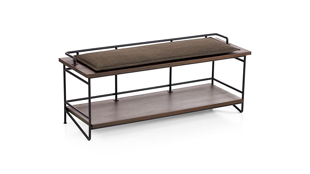 Dark Granite Grey Bench Cushion Reviews Crate And Barrel