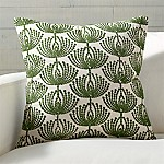 Anessa Green Botanical Pillow with Feather-Down Insert 20