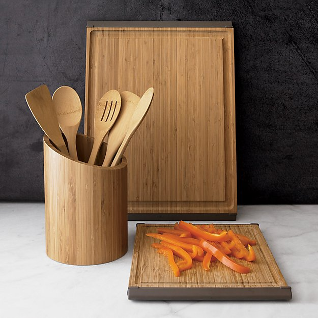 5 Piece Organic Bamboo Utensil Set Crate And Barrel