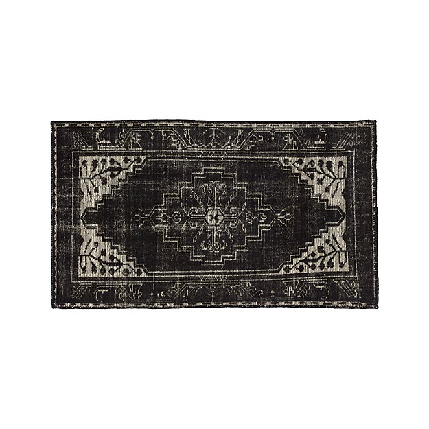 Anice Black Hand Knotted Oriental 3 X5 Rug Crate And Barrel
