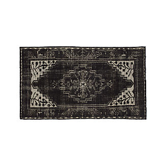 Anice Black Hand Knotted Oriental-Style 3'x5' Rug