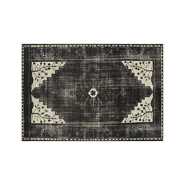 Anice Black Hand Knotted Oriental 9'x12' Rug