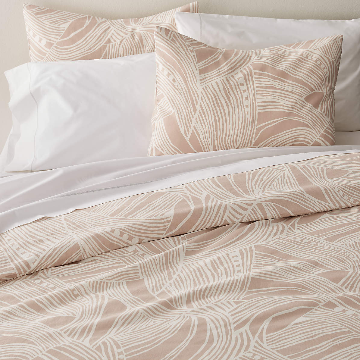 Anika Blush Pink Duvet Covers And Pillow Shams Crate And Barrel Canada