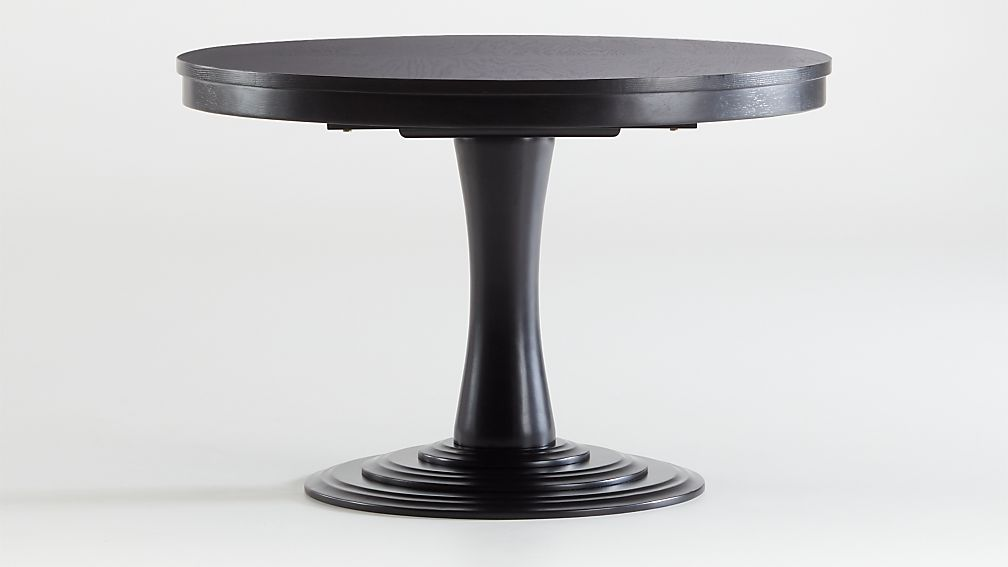 "Aniston Black 45"" Round Extension Dining Table - Image 1 of 7"