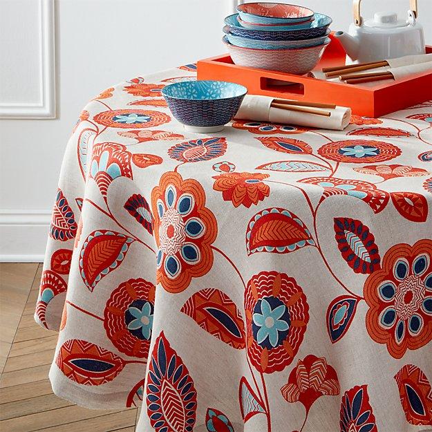 "Anju 60"" Round Tablecloth"