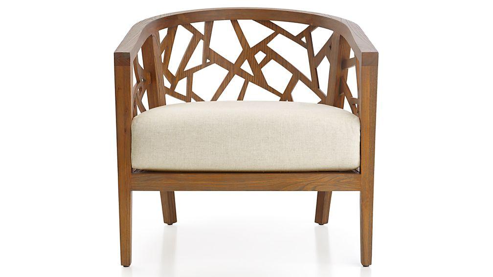 Ankara Grey Wash Frame Chair with Fabric Cushion