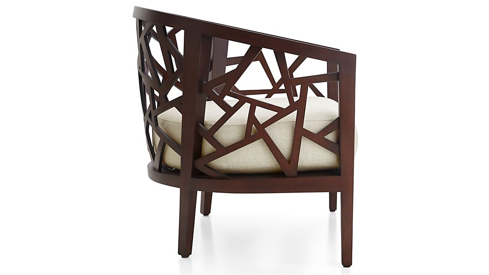 Ankara Truffle Frame Chair with Fabric  Cushion