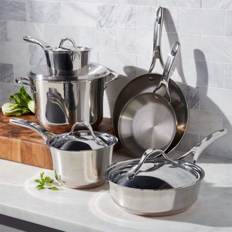 Functional Copper Kids Kitchen Set: Anolon Nouvelle Copper Stainless Steel 10-Piece Cookware