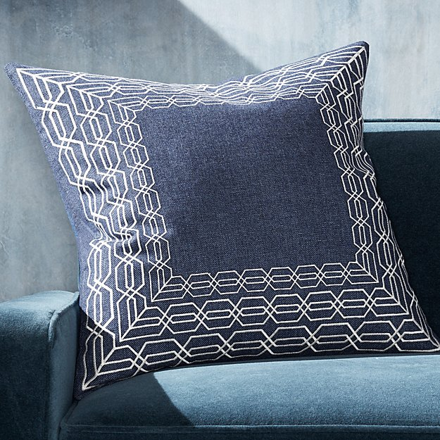 "Ansel Border Pillow 23"" - Image 1 of 4"