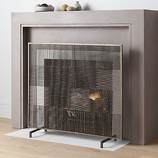 Ansel Plaid Fireplace Screen