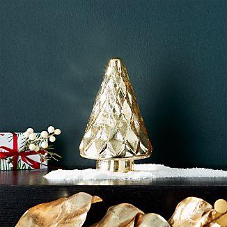 "Antique Glass Gold Lit 7.5"" Tree"