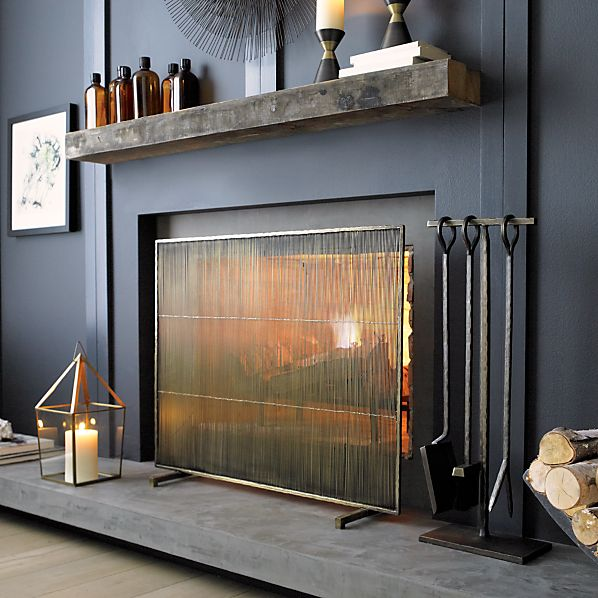 AntiquedBrassFireplaceSI213