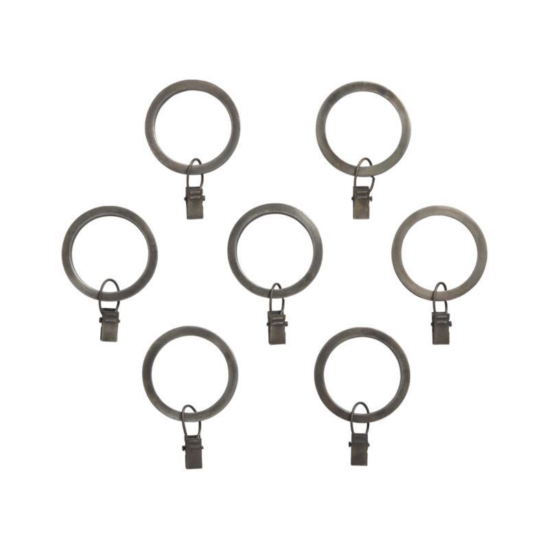 set of 7 antiqued zinc curtain rings   reviews