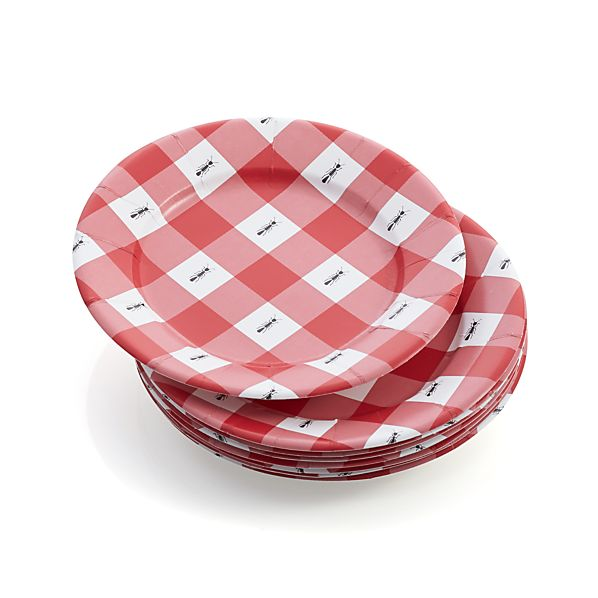 """Set of 8 Ants 8"""" Paper Plates"""