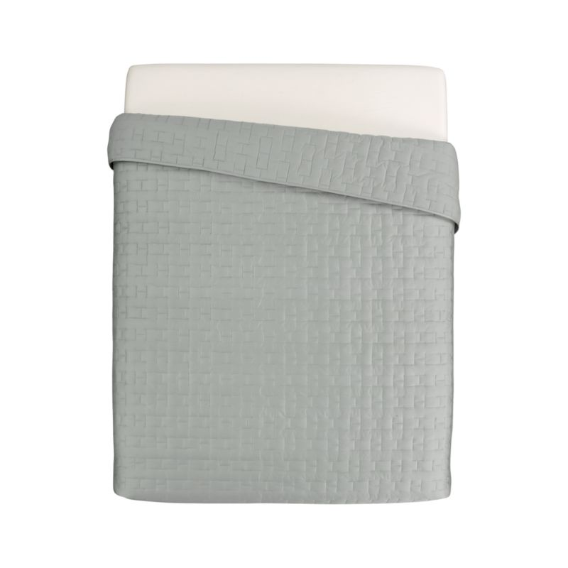 Our sumptuous take on fine bedding tracks modern in soft sateen cotton stitched in a crisp geometric repeat. Quilt reverses to cotton sheeting for sleeping comfort. A knockout used solo, Anujah layers beautifully with prints and contrasting solids, smooth or textured fabrics.<br /><br /><NEWTAG/><ul><li>100% cotton sateen</li><li>Reverses to 100% cotton</li><li>100% polyester fill</li><li>Dry clean</li><li>Made in India</li></ul>