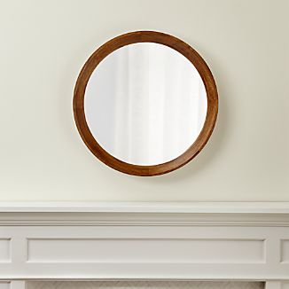 Bathroom Mirrors Crate And Barrel round mirrors | crate and barrel