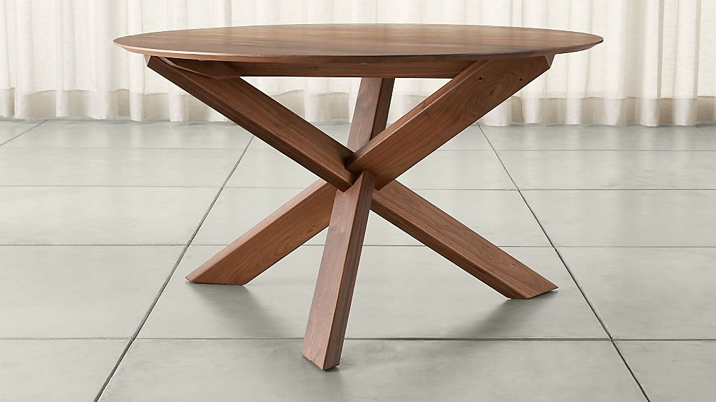 Apex 51 Quot Round Dining Table Reviews Crate And Barrel