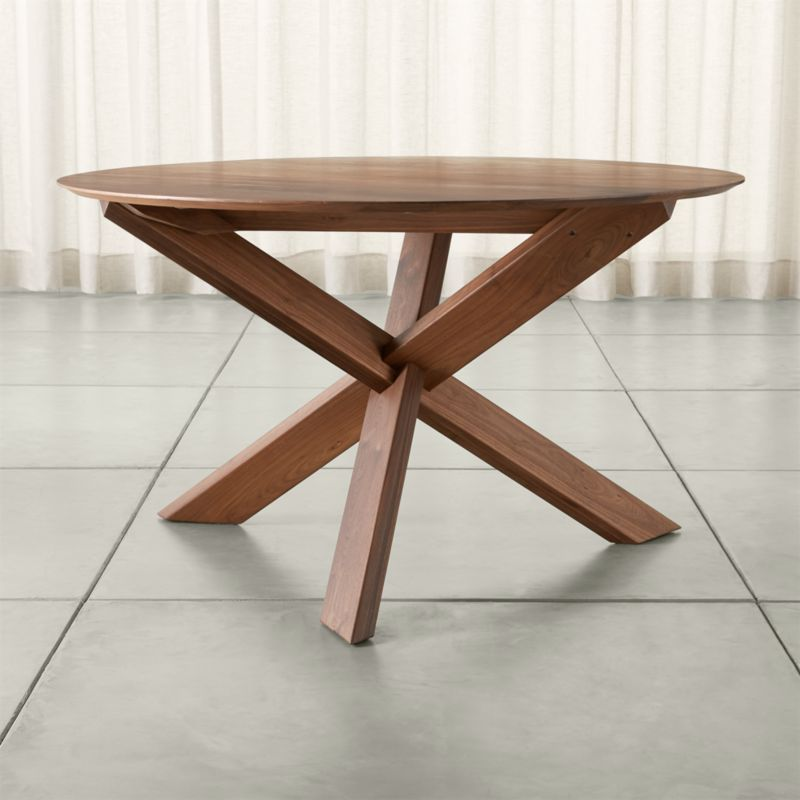 apex 51 round dining table crate and barrel - Dining Table Round Wood