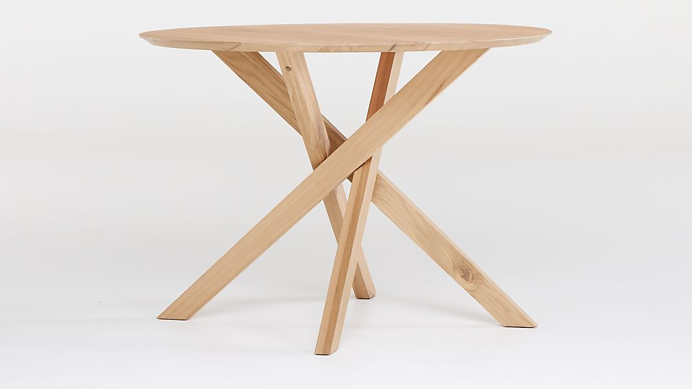 """Apex White Oak 42"""" Round Dining Table - Image 1 of 6"""