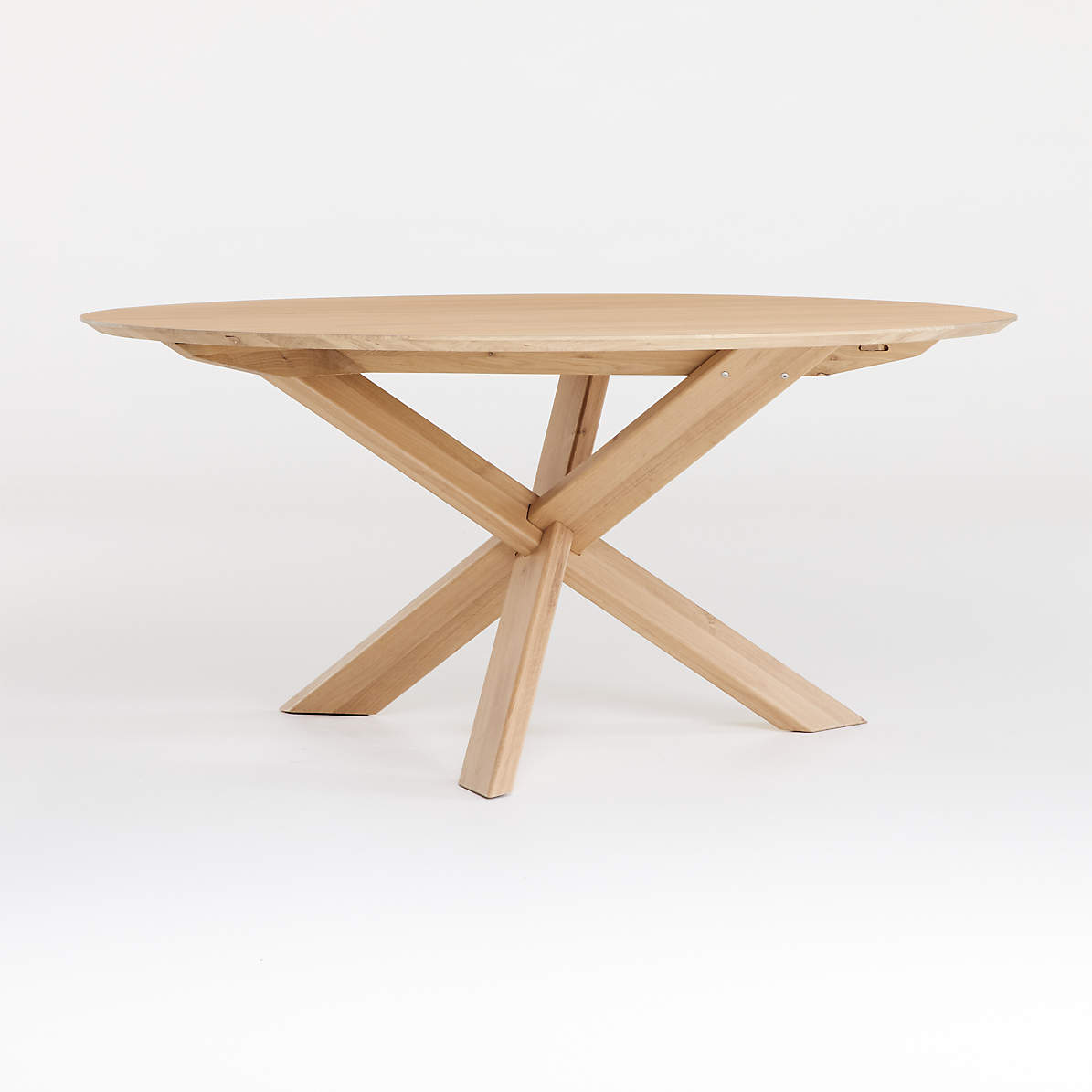 Apex White Oak Round Dining Table Crate And Barrel Canada