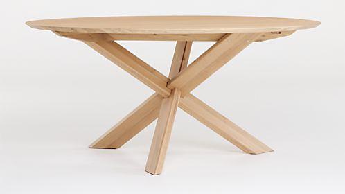 Apex White Oak Round Dining Table