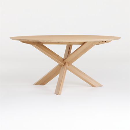 Apex White Oak Round Dining Table
