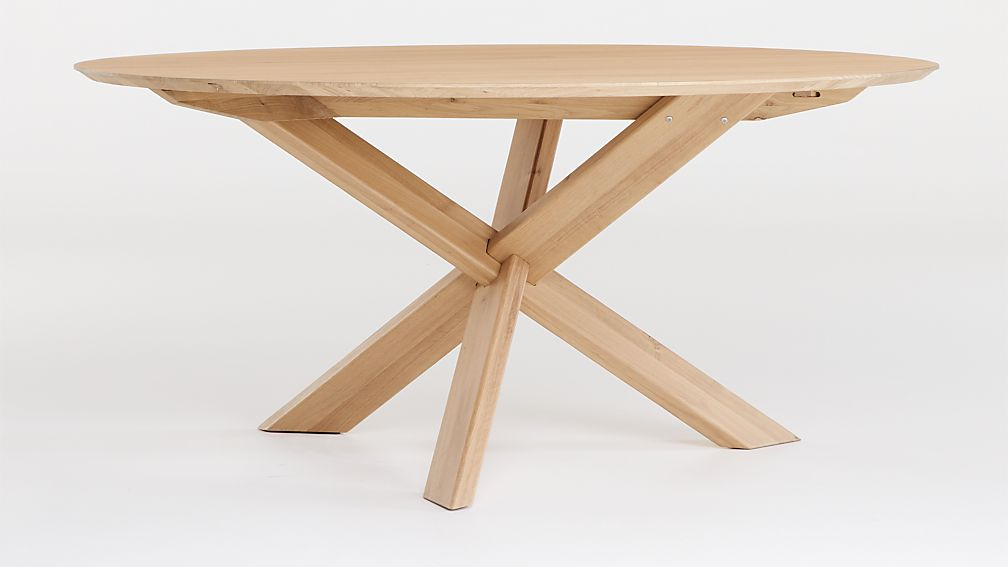 Apex White Oak Round Dining Table - Image 1 of 6