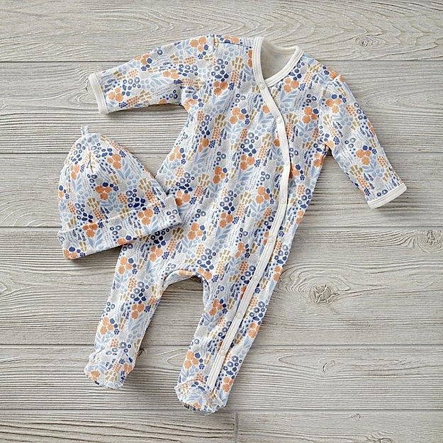 01a5b3fa0058 0-3 Months Lavender Garden Patch Baby Hat Set + Reviews