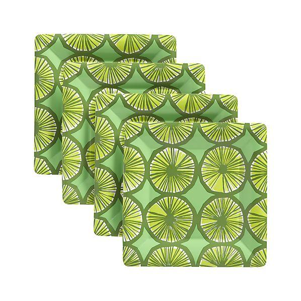 "Set of 8 Marimekko Appelsiini 10.625"" Dinner Plate Set of Eight"