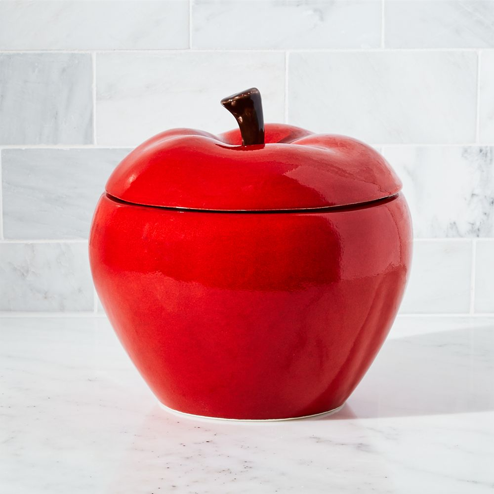 Apple Large Canister - Crate and Barrel