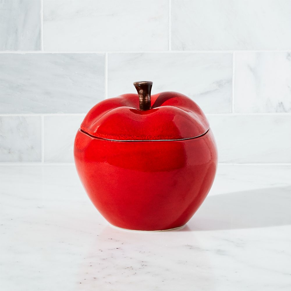 Apple Small Canister - Crate and Barrel