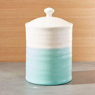 Aqua Dip Large Kitchen Canister