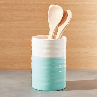 Gifts under 25 unique ideas for everyone crate and barrel - Aqua utensil holder ...