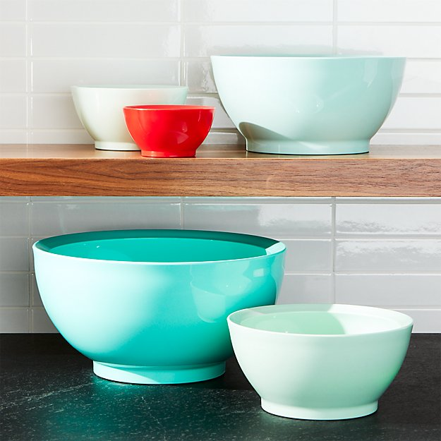 Calibowl ® Aqua Sky Nonslip Nesting Mixing Bowl 5-Piece Set