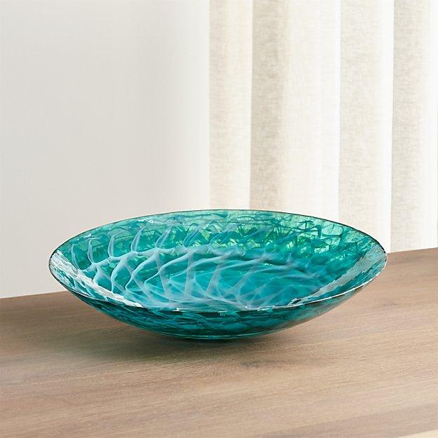 Aquatic Blue Murano Glass Bowl Reviews Crate And Barrel