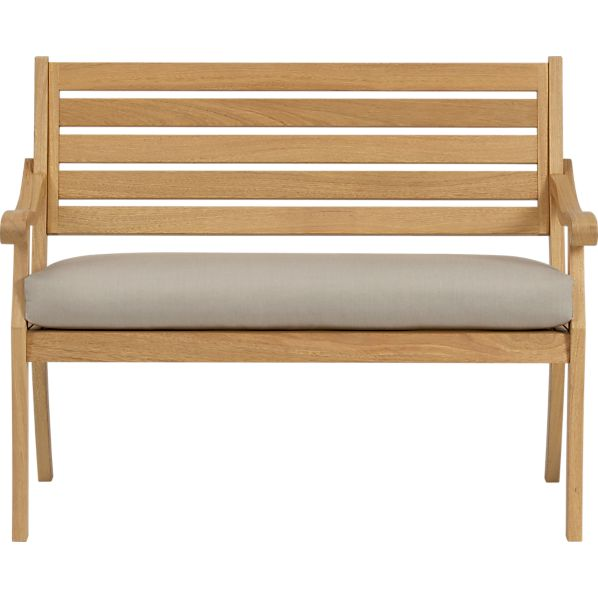 Arbor Garden Bench with Sunbrella ® Stone Cushion