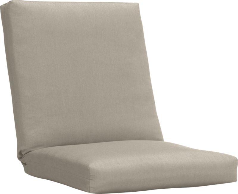 Custom fitted to our Arbor lounge chair, this optional tie-on cushion is fade- and mildew-resistant Sunbrella® acrylic in cool neutral stone.<br /><br /><NEWTAG/><ul><li>Fade- and mildew-resistant Sunbrella acrylic</li><li>Polyester batting and foam cushion fill</li><li>Spot clean the cushion cover</li><li>Cushion is secured with fabric tab fasteners</li><li>Made in USA</li></ul>