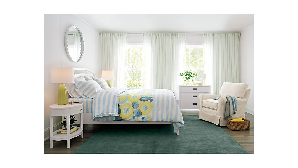 Arch white twin bed crate and barrel Crate and barrel bedroom set