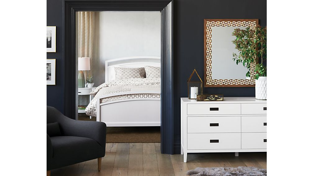 Crate And Barrel Arch White Bed
