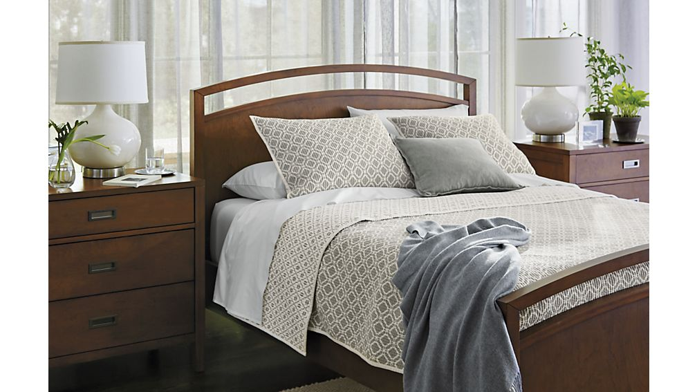 Arch tea bed crate and barrel Crate and barrel bedroom set