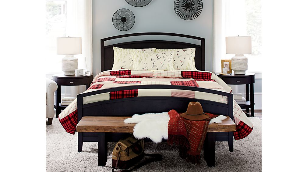 Arch Charcoal Queen Bed