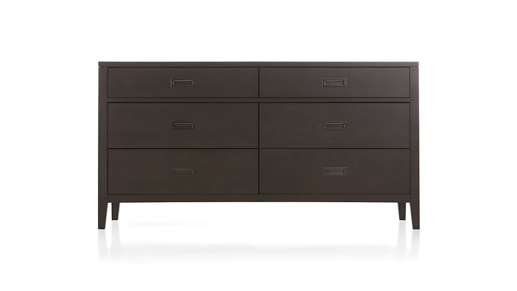 Arch Charcoal 6-Drawer Dresser