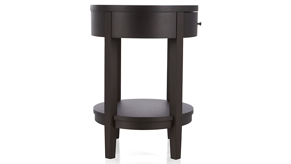 Arch Charcoal Oval Nightstand