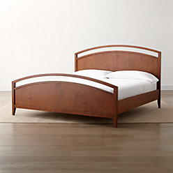 Arch tea queen bed reviews crate and barrel for Crate and barrel arch