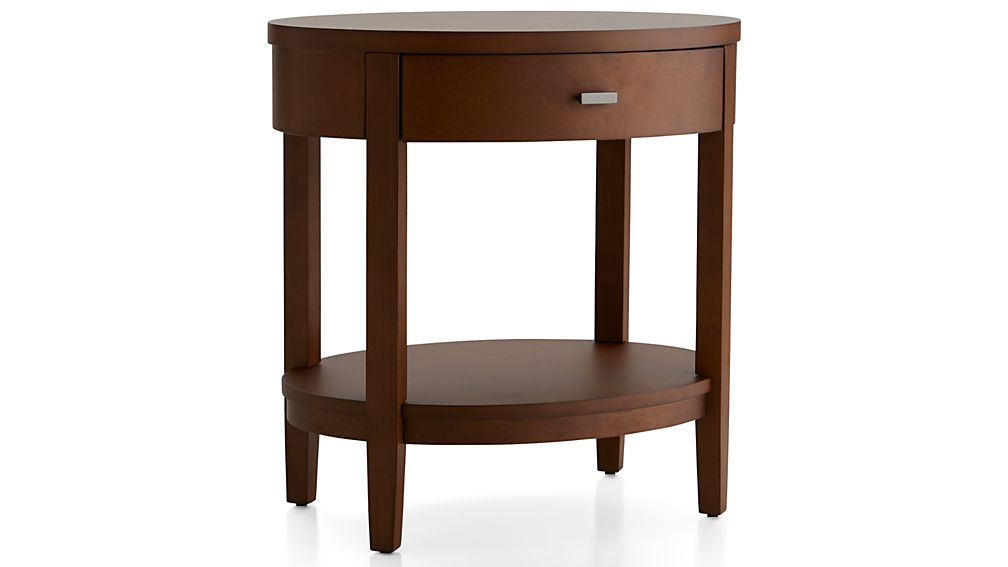 Arch Tea Oval Nightstand with Drawer
