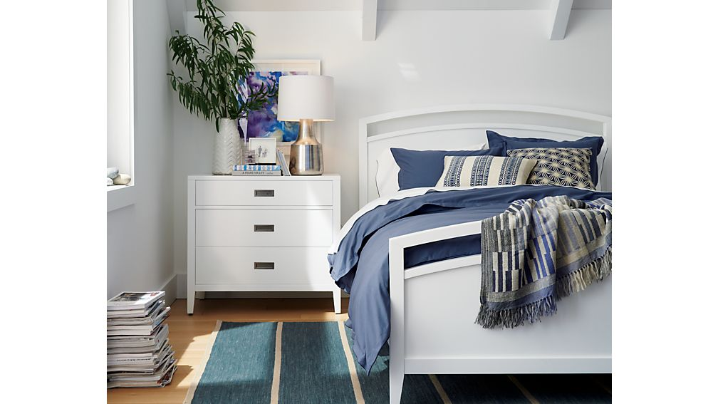 Arch white queen bed crate and barrel for Crate and barrel arch