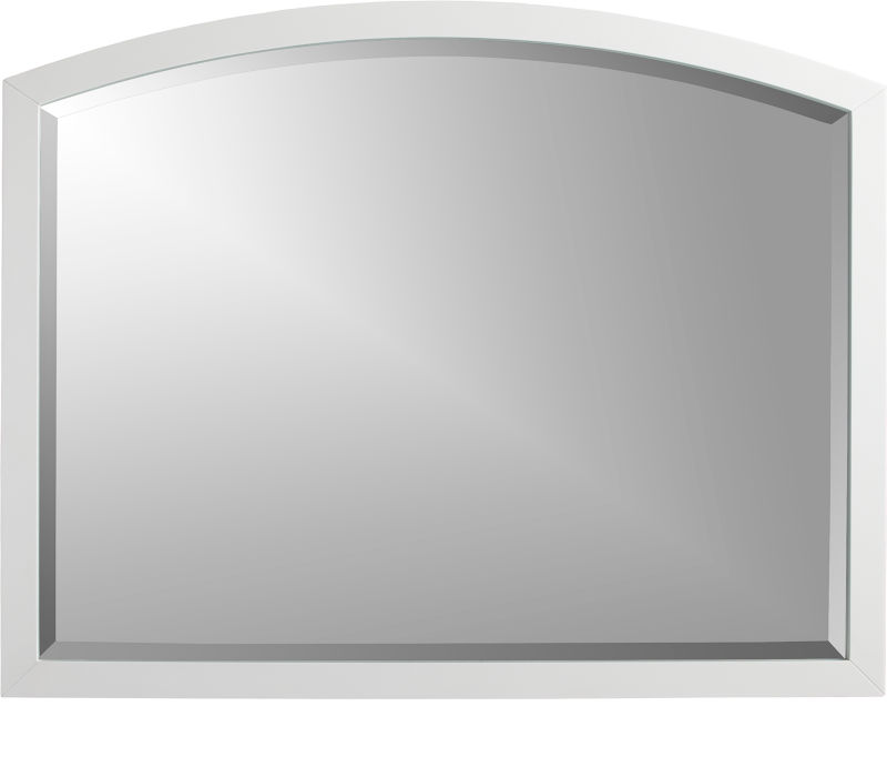 Arch White Wall Mirror