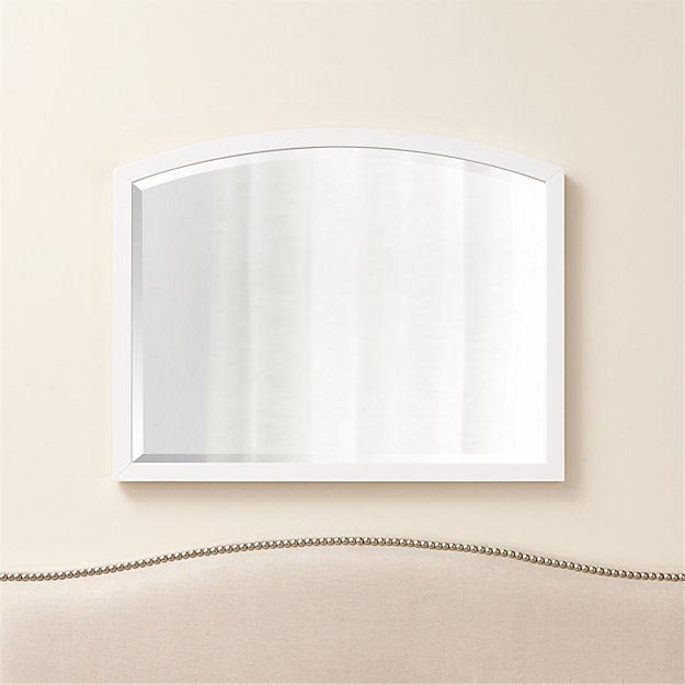 Arch White Wall Mirror - Image 1 of 3